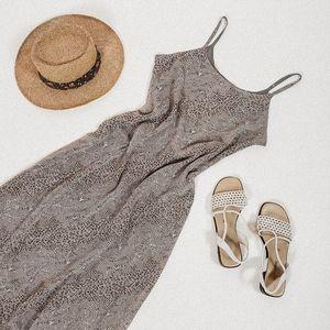 Medium reversible grey animal print maxi dress